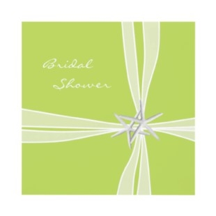 Ideas for green bridal shower invitations