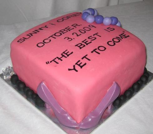 Shower Cake wording