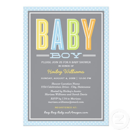 Types Of Baby Shower Invitations Wedcardshare