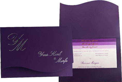 Simple purple invitations for wedding