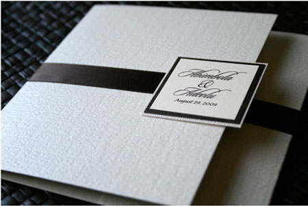 black and white unique wedding invitation - Unique Wedding Invitations